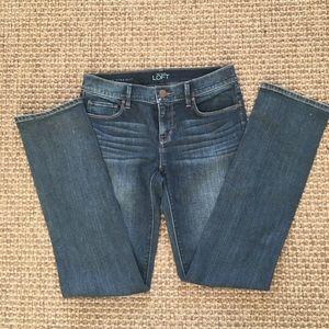 Ann Taylor Loft Modern Straight Blue Jean size 25